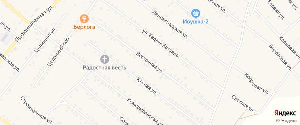 Восточная улица на карте села Хоринск с номерами домов
