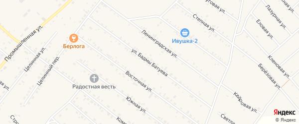 Улица Бадмы Батуева на карте села Хоринск с номерами домов