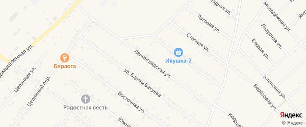 Ленинградская улица на карте села Хоринск с номерами домов