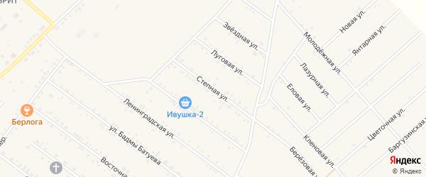 Степная улица на карте села Хоринск с номерами домов