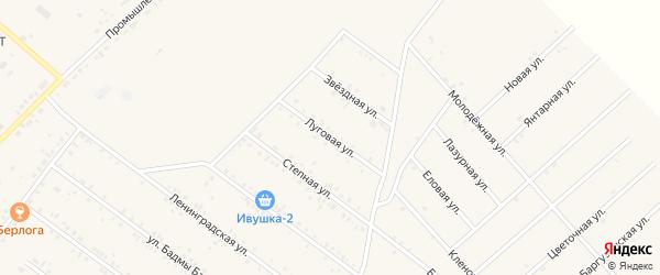 Луговая улица на карте села Хоринск с номерами домов