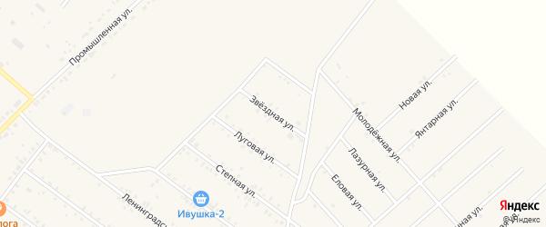 Звездная улица на карте села Хоринск с номерами домов