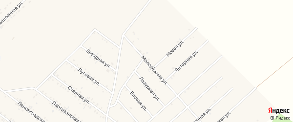 Молодежная улица на карте села Хоринск с номерами домов