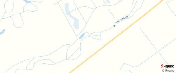Карта заимки Гурта Зэргэлэй в Бурятии с улицами и номерами домов