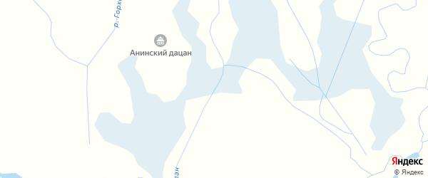Карта заимки Гурта Алана в Бурятии с улицами и номерами домов