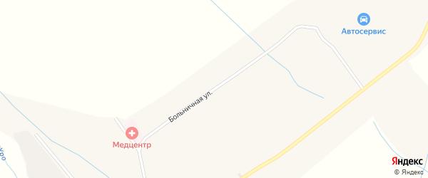 Больничная улица на карте села Уро с номерами домов