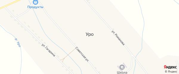 Улица Мелиораторов на карте села Уро с номерами домов