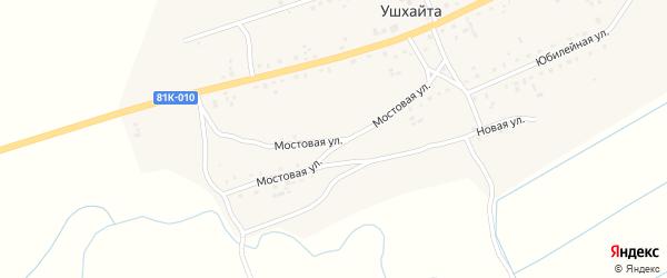 Мостовая улица на карте улуса Ушхайта с номерами домов