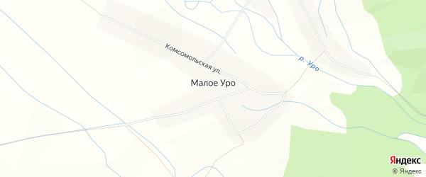 Карта села Малого Уро в Бурятии с улицами и номерами домов