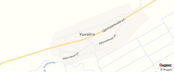 Карта улуса Ушхайта в Бурятии с улицами и номерами домов