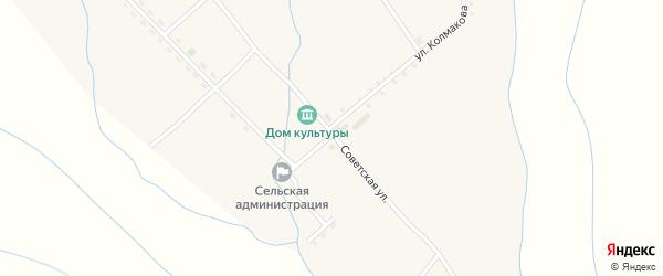Советская улица на карте села Уро с номерами домов