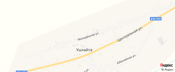 Молодежная улица на карте улуса Ушхайта с номерами домов