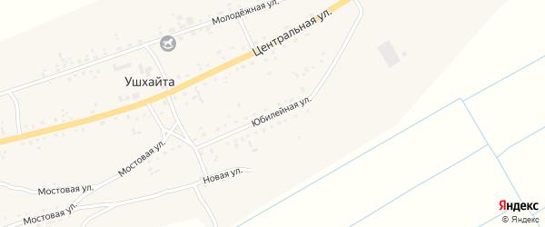 Юбилейная улица на карте улуса Ушхайта с номерами домов