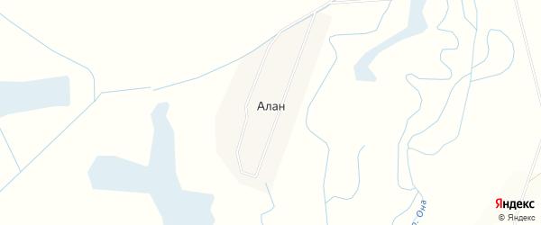 Местность Малый Худак на карте улуса Алана с номерами домов