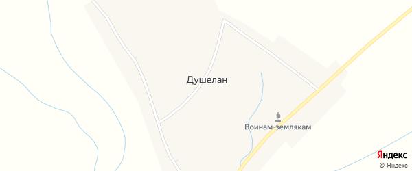 Октябрьская улица на карте села Душелана с номерами домов