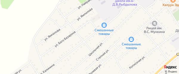 Улица Калинина на карте села Кижинги с номерами домов