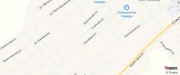 Полевая улица на карте села Кижинги с номерами домов