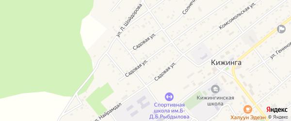 Садовая улица на карте села Кижинги с номерами домов