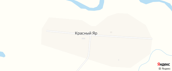 Школьная улица на карте села Красного Яра с номерами домов