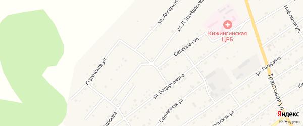 Улица Л.Шойдорова на карте села Кижинги с номерами домов