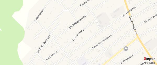 Солнечная улица на карте села Кижинги с номерами домов