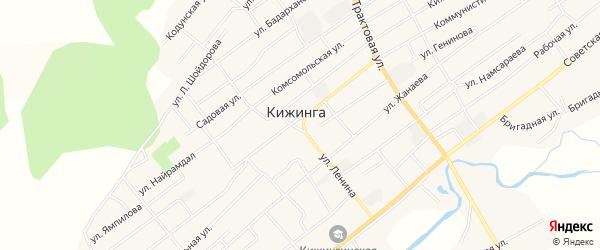 Местность Сужа на карте села Кижинги с номерами домов