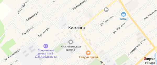 Островная улица на карте села Кижинги с номерами домов