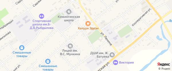 Шолотская улица на карте села Кижинги с номерами домов