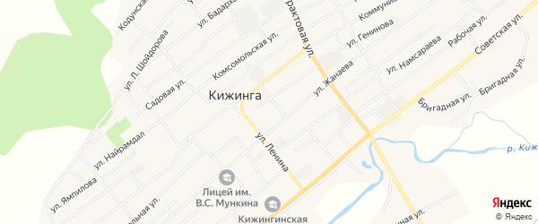 Местность Тологой на карте села Кижинги с номерами домов