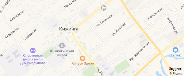 Ключевая улица на карте села Кижинги с номерами домов