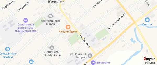 Улица Ленина на карте села Кижинги с номерами домов