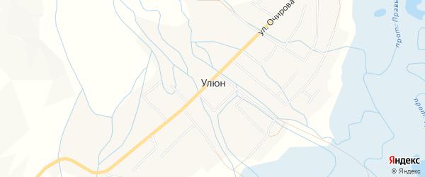 Карта улуса Улюн в Бурятии с улицами и номерами домов