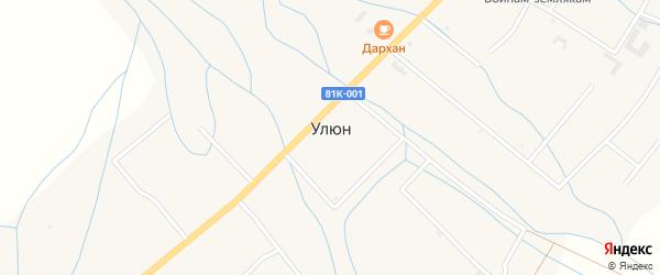 Таежная улица на карте улуса Улюн с номерами домов