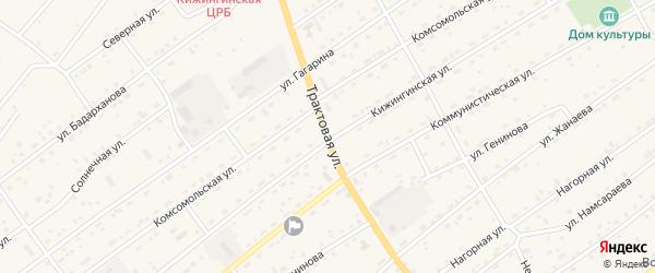 Трактовая улица на карте села Кижинги с номерами домов