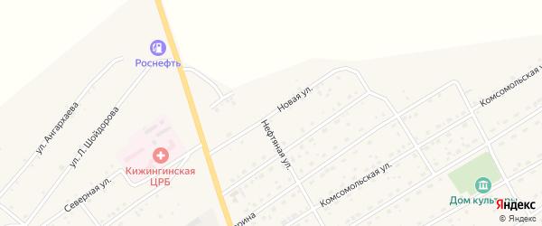 Новая улица на карте села Кижинги с номерами домов