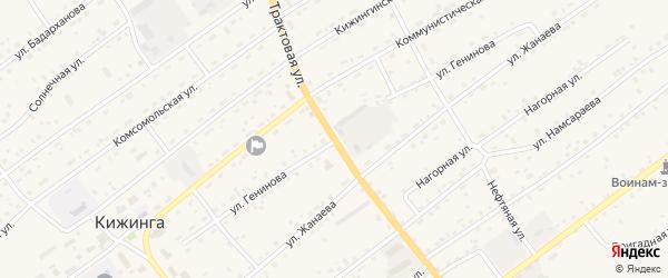 Улица Генинова на карте села Кижинги с номерами домов