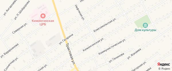 Комсомольская улица на карте села Кижинги с номерами домов