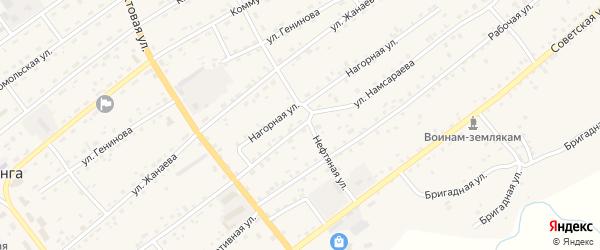 Улица Намсараева на карте села Кижинги с номерами домов