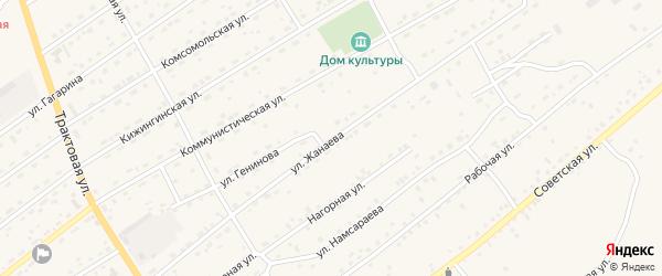 Коммунистическая улица на карте села Кижинги с номерами домов
