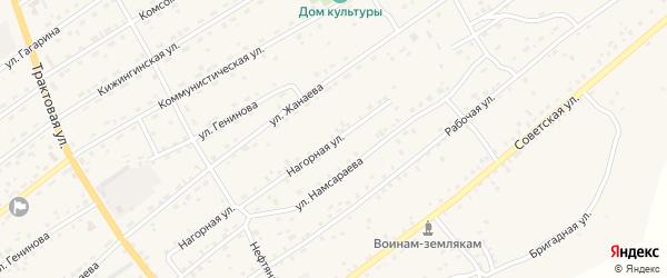 Нагорная улица на карте села Кижинги с номерами домов