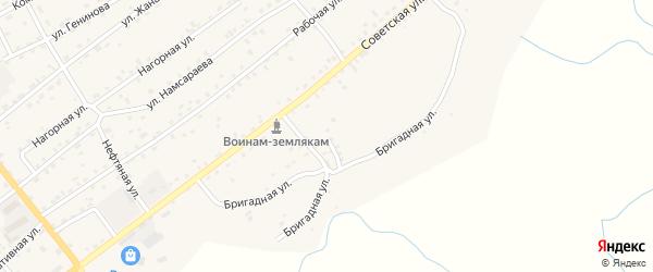Бригадная улица на карте села Кижинги с номерами домов
