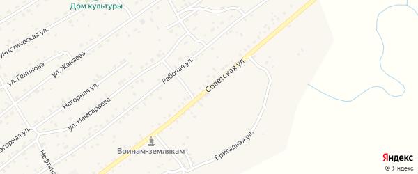Советская улица на карте села Кижинги с номерами домов