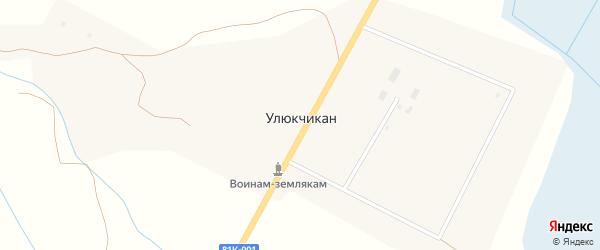 Лесная улица на карте улуса Улюкчикан с номерами домов
