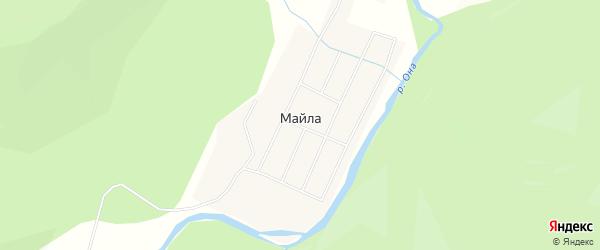 Карта поселка Майла в Бурятии с улицами и номерами домов