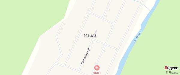 Лесная улица на карте поселка Майла с номерами домов
