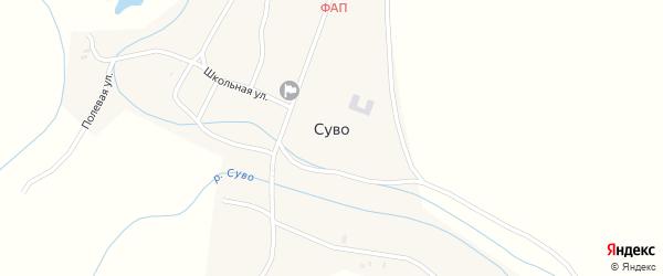 Садовая улица на карте села Суво с номерами домов