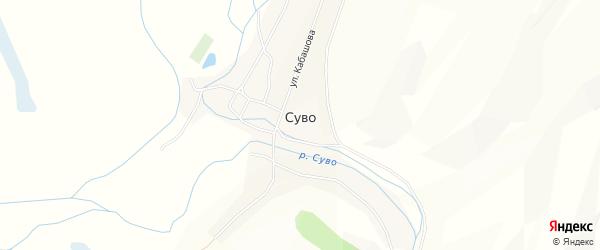 Карта села Суво в Бурятии с улицами и номерами домов