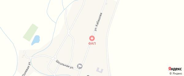 Улица Кабашова на карте села Суво с номерами домов