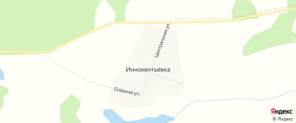 Карта села Иннокентьевки в Бурятии с улицами и номерами домов