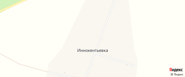 Центральная улица на карте села Иннокентьевки с номерами домов